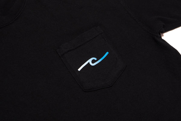 Surf Dude Pocket Tee - Black