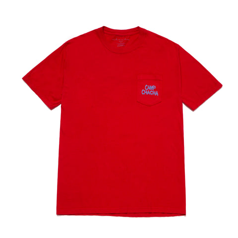 CAMP CHACHA POCKET TEE - Red
