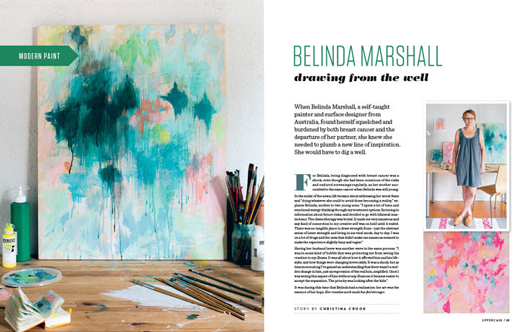 Uppercase magazine Issue 22, 2014. Artist profile interview.