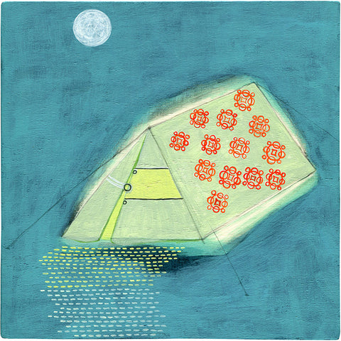 the honeymoon suite acrylic on wood 8 x 8in / 20.2 x 20.2cm 2010