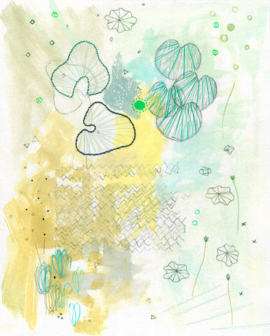 succulents mixed media on paper 10 x 8in / 25.4 x 20.1cm 2011