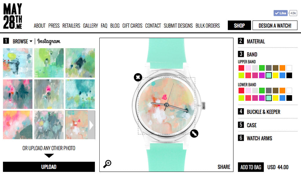 Belinda Marshall x May28th custom watch designs