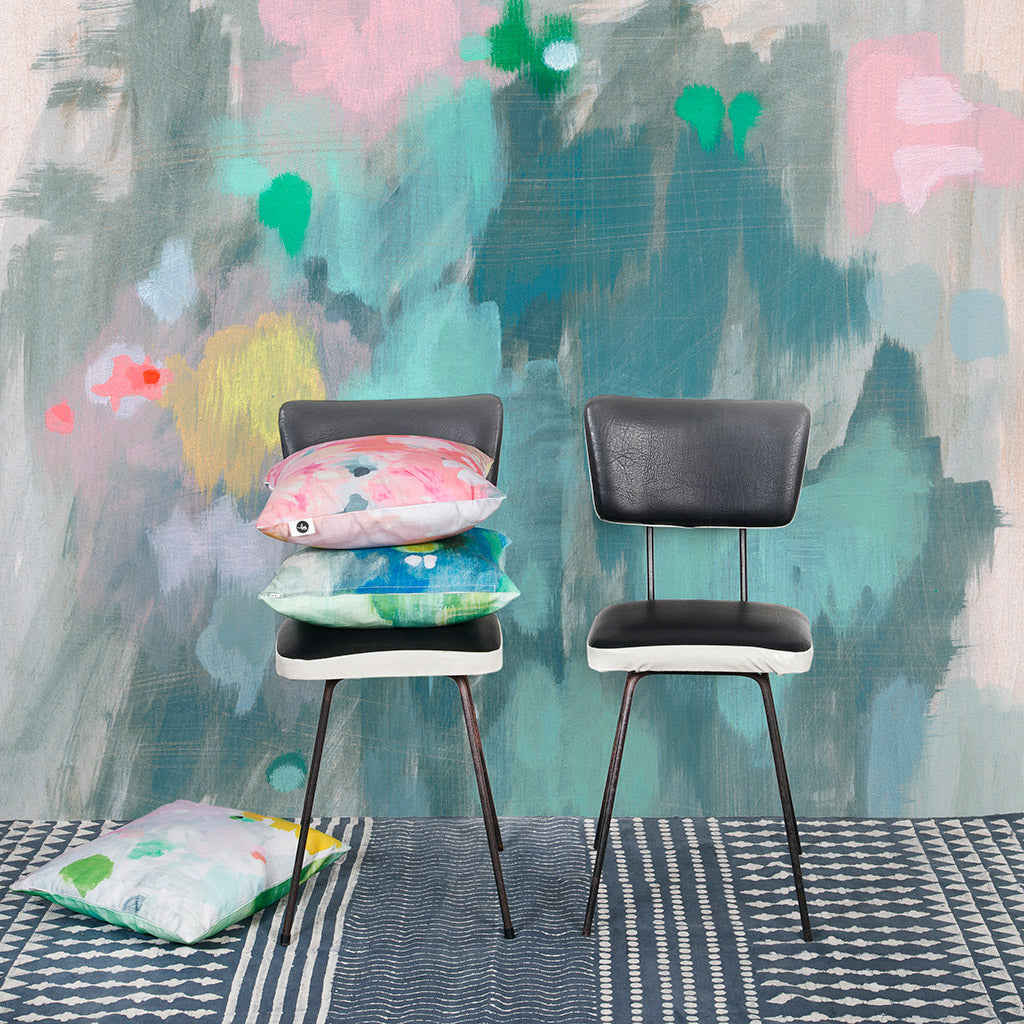 Wall paper mural collaboration: Belinda Marshall x Scandinavian Wallpaper & Decor 'greenish light'. original photo by Fleck Photography.