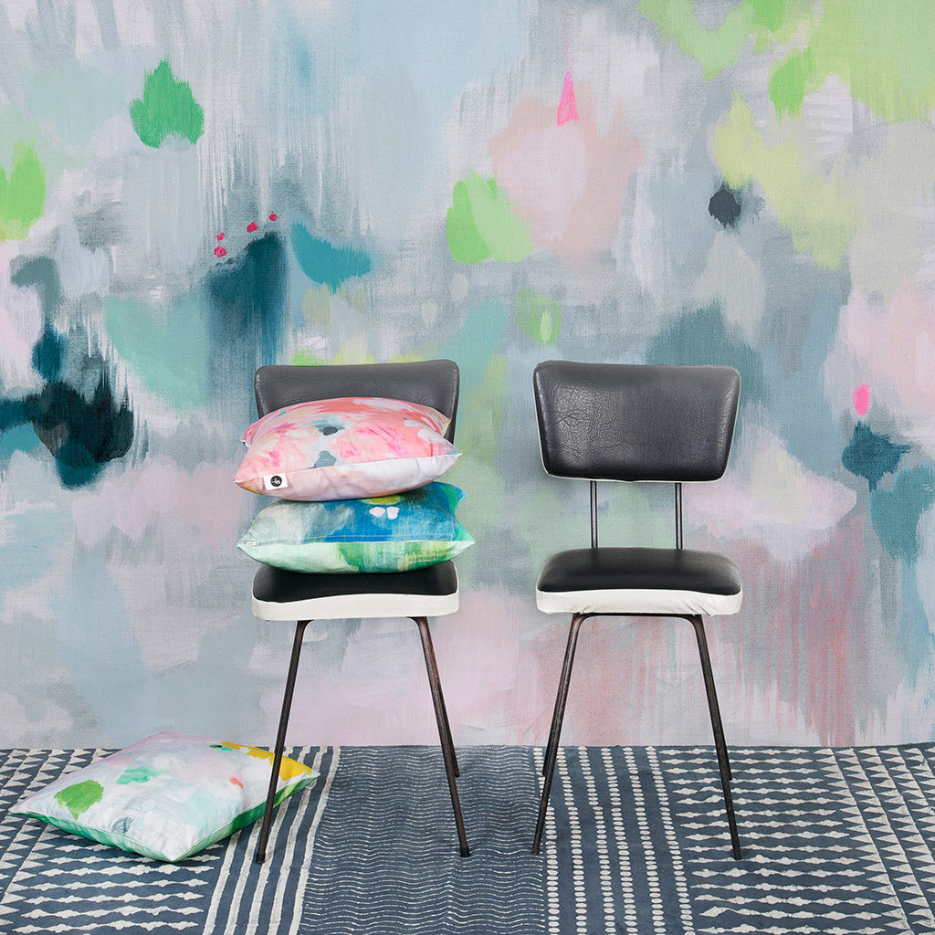 Wall paper mural collaboration: Belinda Marshall x Scandinavian Wallpaper & Decor 'lifted'. original photo by Fleck Photography.