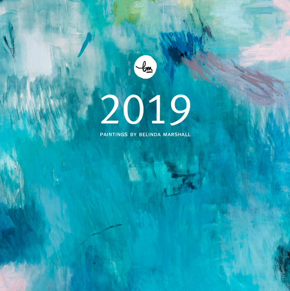 2019 wall calendar planner abstract art limited edition belinda marshall recycled paper