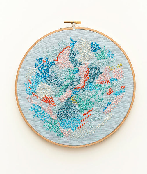 Embroidery ~ 'Small world 2' ~ Blue