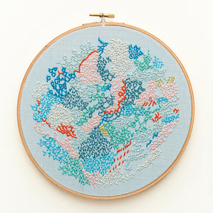 diy embroidery kit abstract wall art by belinda marshall