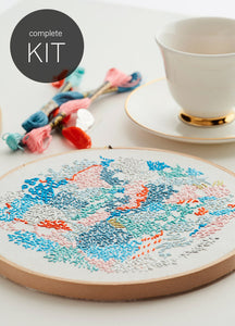 DIY embroidery kit ~ 'Small world 2' ~ WHITE background