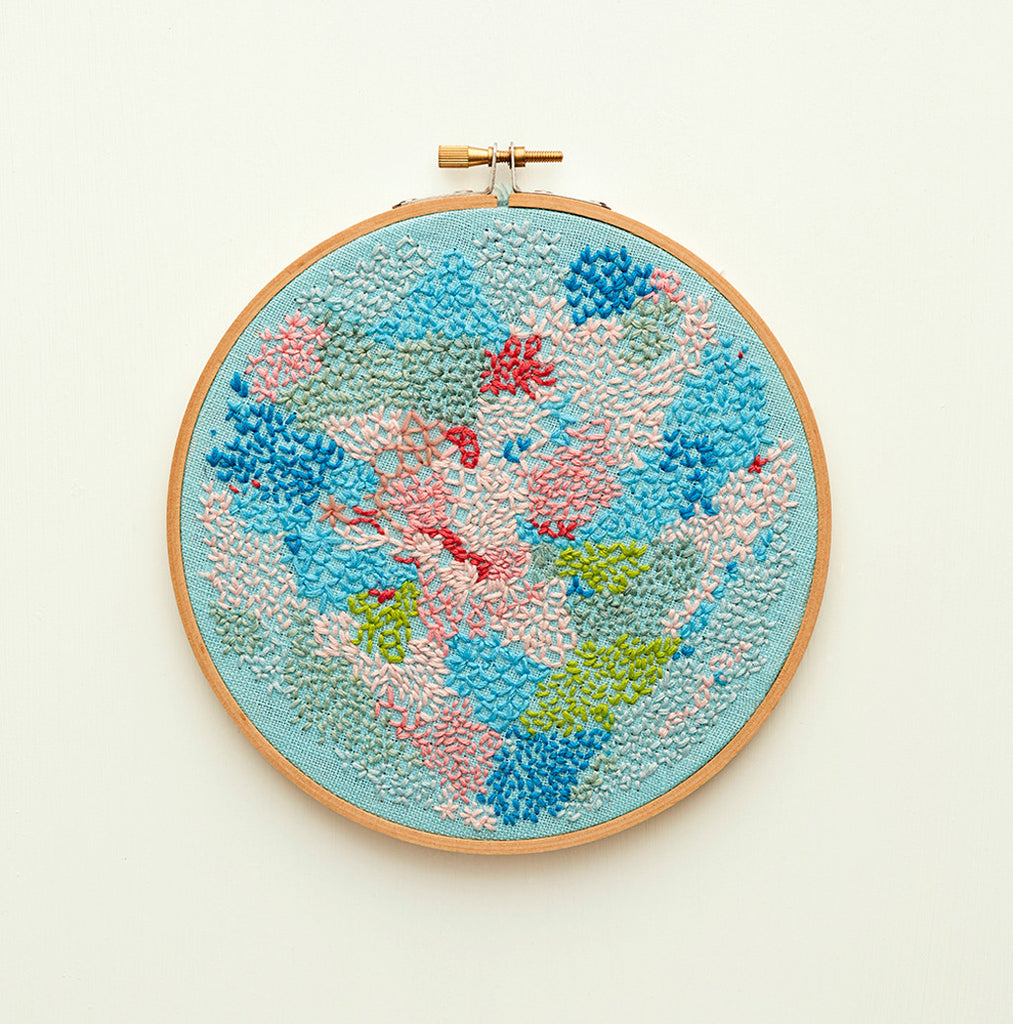 original embroidery artwork ready to hang by belinda marshall