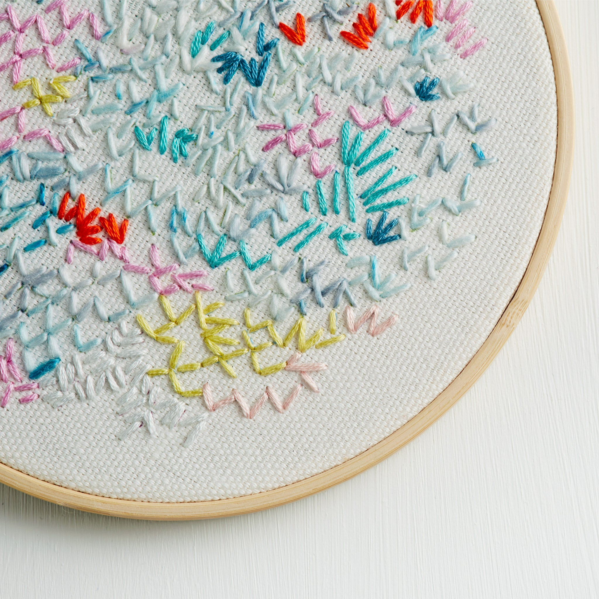 Embroidery artwork ~ 'Rose' ~ White
