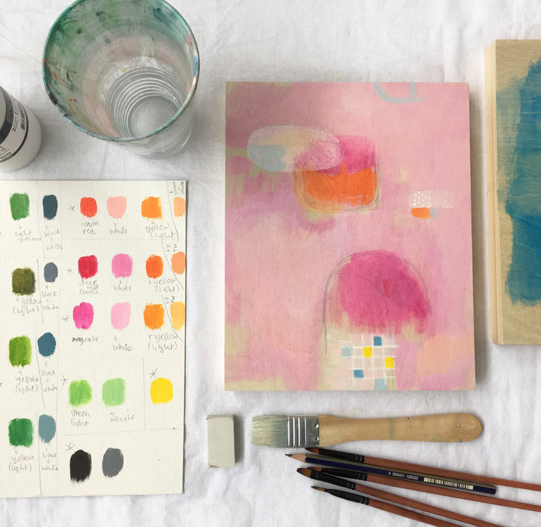 abstract painting workshop melbourne belinda marshall