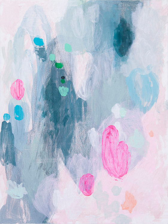sale abstract art print pink blue grey belinda marshall