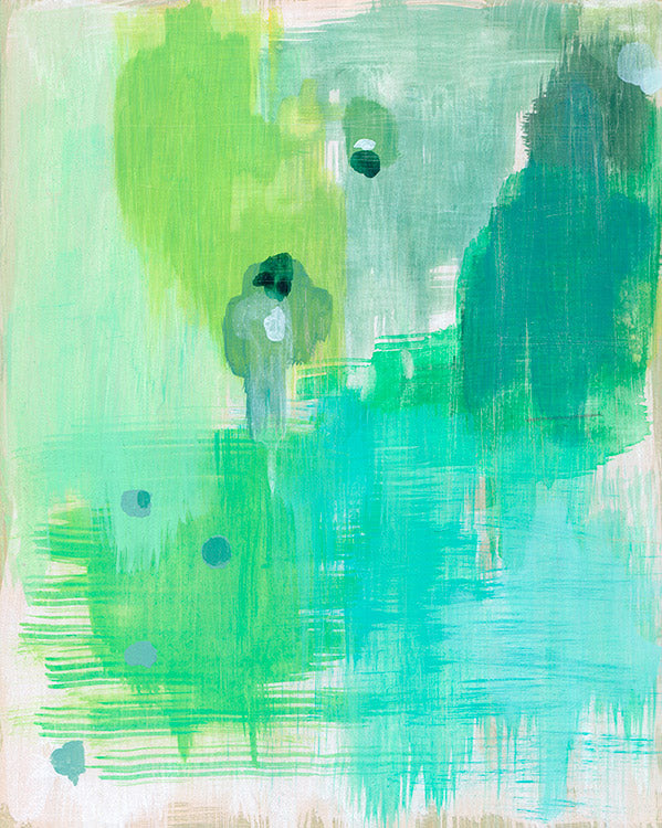 sale abstract drips art print blue green belinda marshall