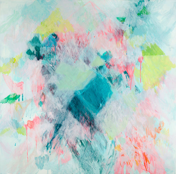 abstract fine art print contemporary belinda marshall neon pastel