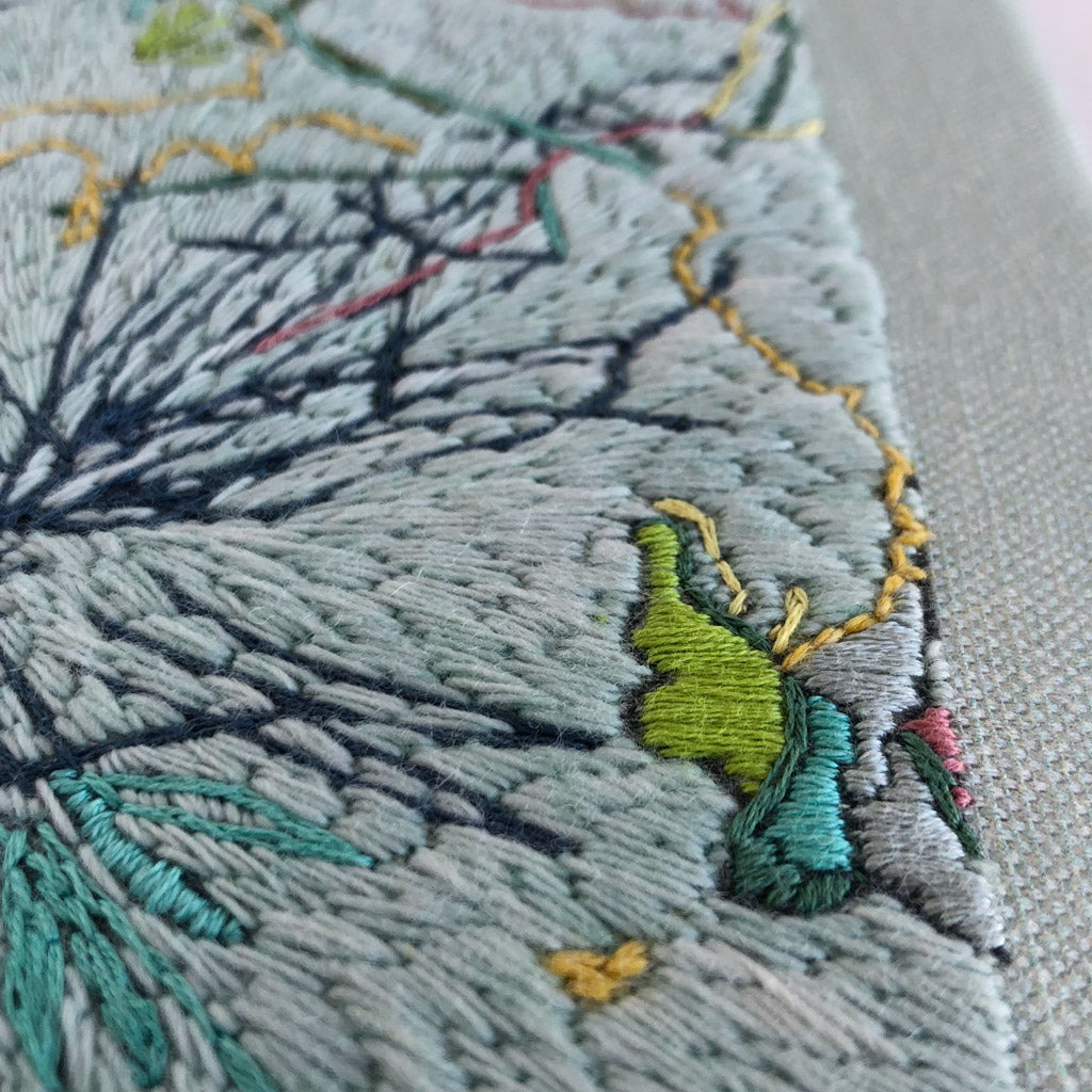 Original hand stitched embroidery artwork 'Crisp'