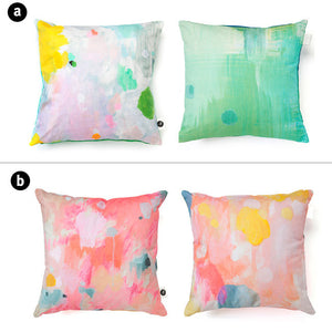 digitally printed cushion cover option a and b