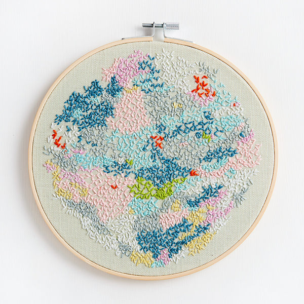 Embroidery ~ 'Snowy Lake' ~ Green