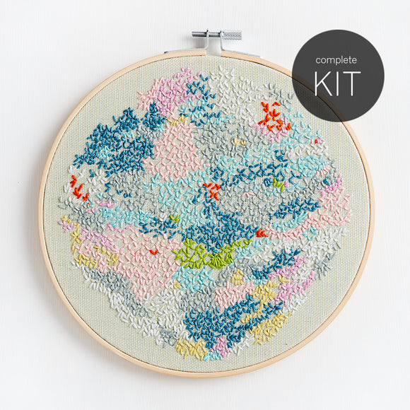contemporary diy embroidery kit pattern preprinted fabric