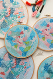 collection embroidery kits abstract wall art by belinda marshall
