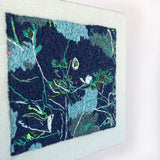 Original embroidery artwork 'Night walk'