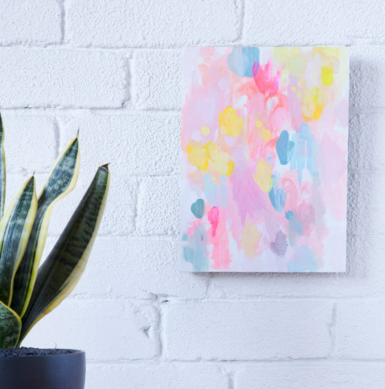 original contemporary abstract painting small work in situ by belinda marshall