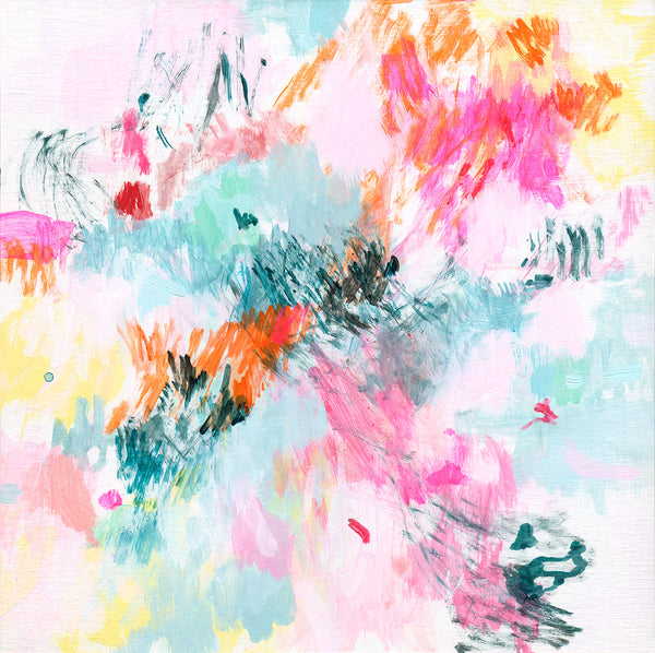 contemporary abstract art print paper canvas square format belinda marshall butterflies
