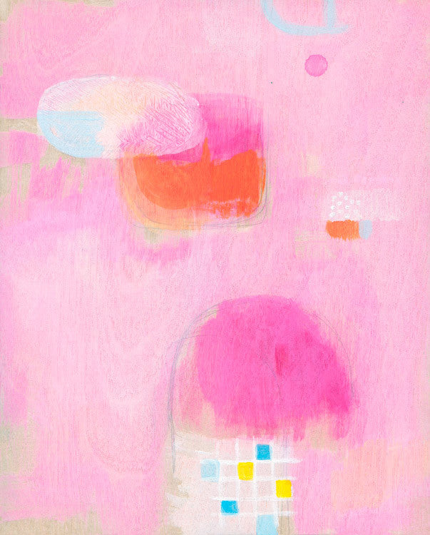 fine art print - open edition - pink abstract