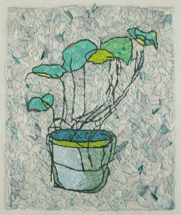 embroidery plant potted leaves textured belinda marshall