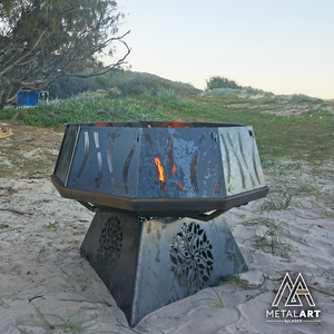 Surething 900 - Firepit + Panels & Stand Combo