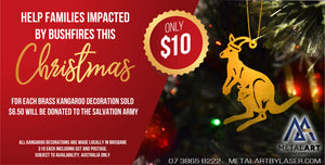 Christmas Kangaroo Fundraiser Ornament