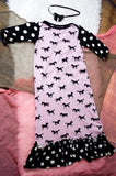 Black Polka Dot Derby Girl Gown
