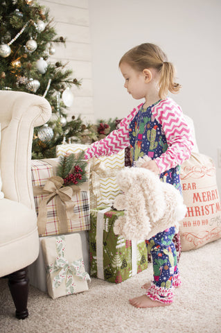 Ruffled Pants Christmas outfit