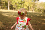 Layla Dress: Personalized Rustic Christmas Truck Dress