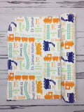 Personalized Train Blanket & Burp Cloth Set