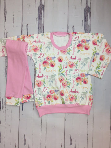 Flower Personalized Outfit/PJs