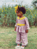 Madeline Shirt & Amelia Pants: Purple Fields