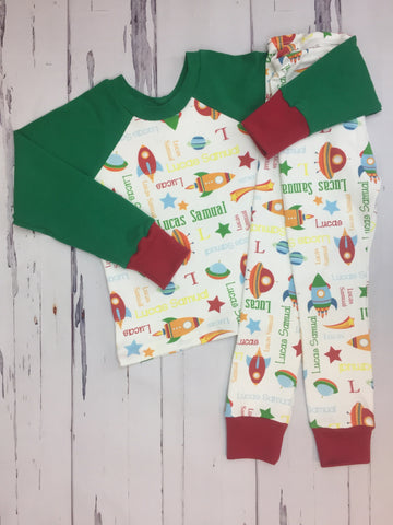 Blast Off Personalized Outfit/PJs