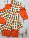 Christmas Pajamas - Orange Gifts