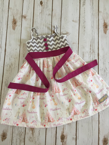 Natalie Style Dress: Personalized Woodland Birthday Dress
