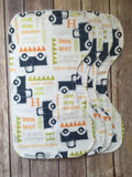 Personalized Classic Truck Blanket & Burp Cloth Set