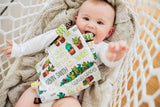 Personalized Succulent Cacti Floral Blanket & Burp Cloth Set