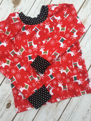 Christmas Pajamas - Red Raindeer