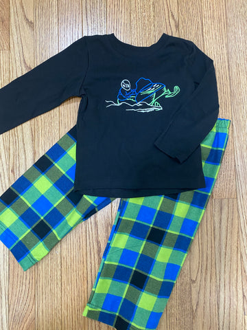 Flannel Pajamas - Long Sleeve Plaid Snowmobile PJs