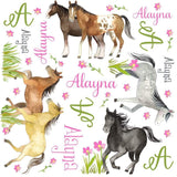 Personalized Horse Equestrian Blanket & Burp Cloth Set