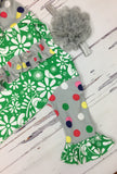 Green Birdie & Polka Dot Gown