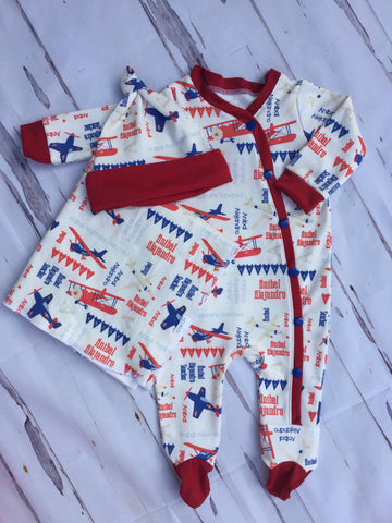 Personalized Classic Airplane Gown Set