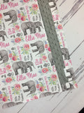 Custom baby girl elephant blanket