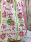 Niomi Style Dress: Personalized Watermelon Birthday Dress
