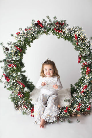 Christmas Outfit - Classic Snowflakes with Santa