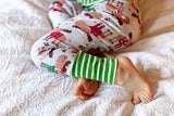 Christmas Pajamas - Mouse Madness with Green Stripe